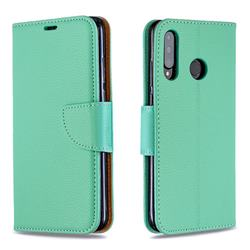 Classic Luxury Litchi Leather Phone Wallet Case for Huawei P30 Lite - Green