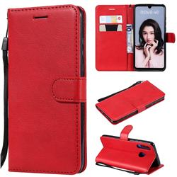 Retro Greek Classic Smooth PU Leather Wallet Phone Case for Huawei P30 Lite - Red