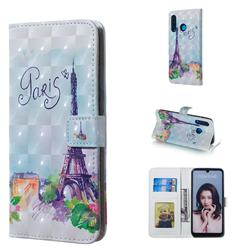 Paris Tower 3D Painted Leather Phone Wallet Case for Huawei P30 Lite