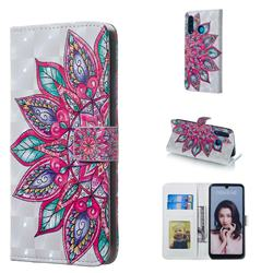 Mandara Flower 3D Painted Leather Phone Wallet Case for Huawei P30 Lite