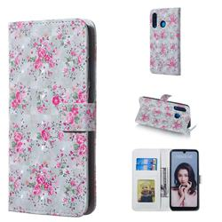 Roses Flower 3D Painted Leather Phone Wallet Case for Huawei P30 Lite