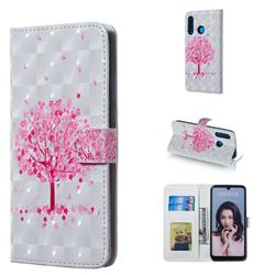 Sakura Flower Tree 3D Painted Leather Phone Wallet Case for Huawei P30 Lite