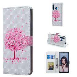 Sakura Flower Tree 3D Painted Leather Phone Wallet Case for Huawei P30 Lite