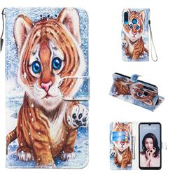 Baby Tiger Smooth Leather Phone Wallet Case for Huawei P30 Lite