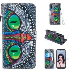 Cute Owl Smooth Leather Phone Wallet Case for Huawei P30 Lite