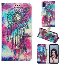 Butterfly Chimes PU Leather Wallet Case for Huawei P30 Lite