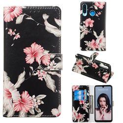 Azalea Flower PU Leather Wallet Case for Huawei P30 Lite