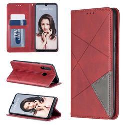 Prismatic Slim Magnetic Sucking Stitching Wallet Flip Cover for Huawei P30 Lite - Red