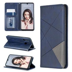 Prismatic Slim Magnetic Sucking Stitching Wallet Flip Cover for Huawei P30 Lite - Blue