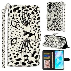 Leopard Panther 3D Leather Phone Holster Wallet Case for Huawei P30 Lite