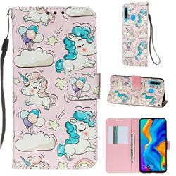 Angel Pony 3D Painted Leather Wallet Case for Huawei P30 Lite