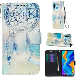 Fantasy Campanula 3D Painted Leather Wallet Case for Huawei P30 Lite