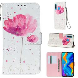 Watercolor 3D Painted Leather Wallet Case for Huawei P30 Lite