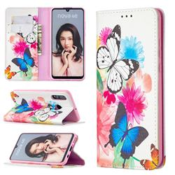 Flying Butterflies Slim Magnetic Attraction Wallet Flip Cover for Huawei P30 Lite