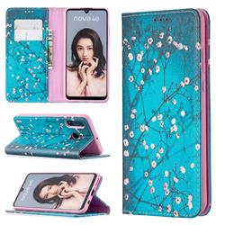 Plum Blossom Slim Magnetic Attraction Wallet Flip Cover for Huawei P30 Lite