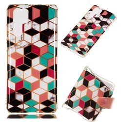 Three-dimensional Square Soft TPU Marble Pattern Phone Case for Huawei P30 Pro