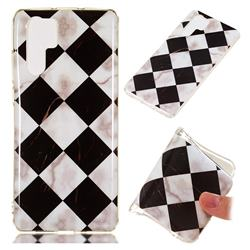 Black and White Matching Soft TPU Marble Pattern Phone Case for Huawei P30 Pro