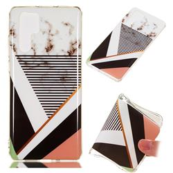 Pinstripe Soft TPU Marble Pattern Phone Case for Huawei P30 Pro