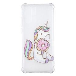 Donut Unicorn Anti-fall Clear Varnish Soft TPU Back Cover for Huawei P30 Pro