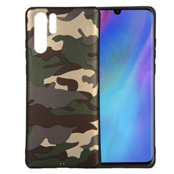 Camouflage Soft TPU Back Cover for Huawei P30 Pro - Gold Green