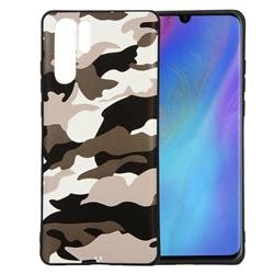 Camouflage Soft TPU Back Cover for Huawei P30 Pro - Black White