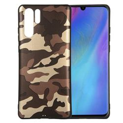 Camouflage Soft TPU Back Cover for Huawei P30 Pro - Gold Coffee
