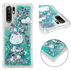 Tiny Unicorn Dynamic Liquid Glitter Sand Quicksand Star TPU Case for Huawei P30 Pro