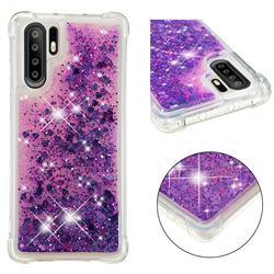 Dynamic Liquid Glitter Sand Quicksand Star TPU Case for Huawei P30 Pro - Purple