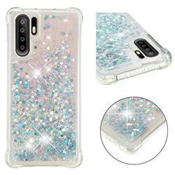 Dynamic Liquid Glitter Sand Quicksand Star TPU Case for Huawei P30 Pro - Silver
