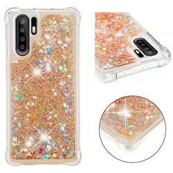 Dynamic Liquid Glitter Sand Quicksand Star TPU Case for Huawei P30 Pro - Diamond Gold