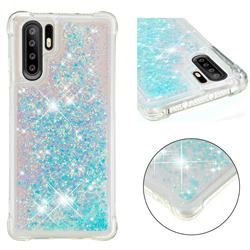 Dynamic Liquid Glitter Sand Quicksand TPU Case for Huawei P30 Pro - Silver Blue Star