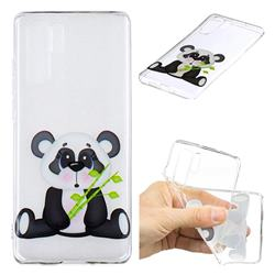 Bamboo Panda Clear Varnish Soft Phone Back Cover for Huawei P30 Pro