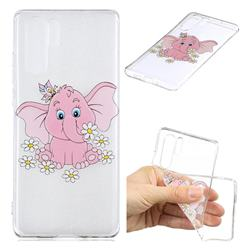 Tiny Pink Elephant Clear Varnish Soft Phone Back Cover for Huawei P30 Pro