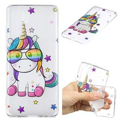 Glasses Unicorn Clear Varnish Soft Phone Back Cover for Huawei P30 Pro