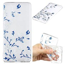 Magnolia Flower Clear Varnish Soft Phone Back Cover for Huawei P30 Pro