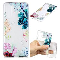 Gem Flower Clear Varnish Soft Phone Back Cover for Huawei P30 Pro