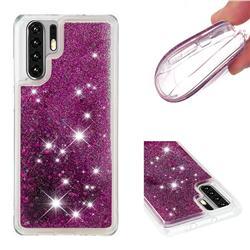 Dynamic Liquid Glitter Quicksand Sequins TPU Phone Case for Huawei P30 Pro - Purple