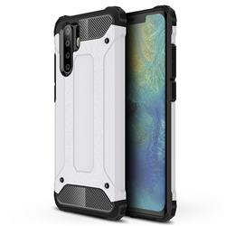 King Kong Armor Premium Shockproof Dual Layer Rugged Hard Cover for Huawei P30 Pro - White