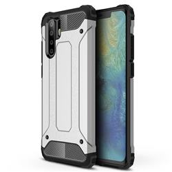 King Kong Armor Premium Shockproof Dual Layer Rugged Hard Cover for Huawei P30 Pro - Technology Silver