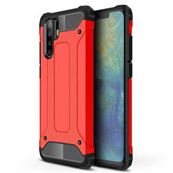 King Kong Armor Premium Shockproof Dual Layer Rugged Hard Cover for Huawei P30 Pro - Big Red