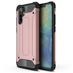 King Kong Armor Premium Shockproof Dual Layer Rugged Hard Cover for Huawei P30 Pro - Rose Gold