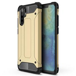 King Kong Armor Premium Shockproof Dual Layer Rugged Hard Cover for Huawei P30 Pro - Champagne Gold