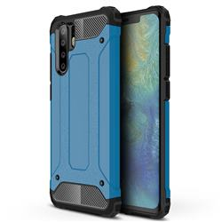 King Kong Armor Premium Shockproof Dual Layer Rugged Hard Cover for Huawei P30 Pro - Sky Blue