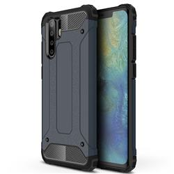King Kong Armor Premium Shockproof Dual Layer Rugged Hard Cover for Huawei P30 Pro - Navy
