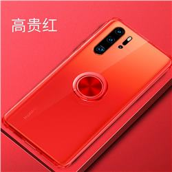 Anti-fall Invisible Press Bounce Ring Holder Phone Cover for Huawei P30 Pro - Noble Red