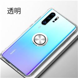 Anti-fall Invisible Press Bounce Ring Holder Phone Cover for Huawei P30 Pro - Transparent