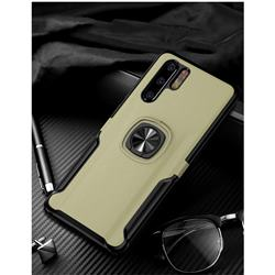 Knight Armor Anti Drop PC + Silicone Invisible Ring Holder Phone Cover for Huawei P30 Pro - Champagne