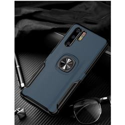 Knight Armor Anti Drop PC + Silicone Invisible Ring Holder Phone Cover for Huawei P30 Pro - Sapphire