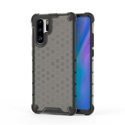 Honeycomb TPU + PC Hybrid Armor Shockproof Case Cover for Huawei P30 Pro - Gray