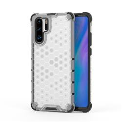 Honeycomb TPU + PC Hybrid Armor Shockproof Case Cover for Huawei P30 Pro - Transparent